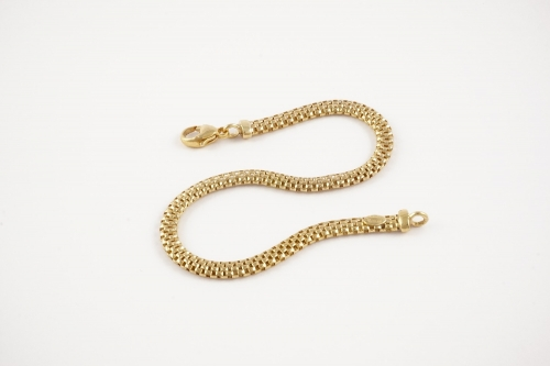 pulsera cadena plata chapada