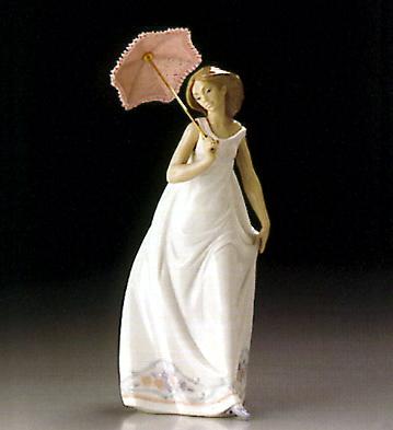 figura lladro paraguas