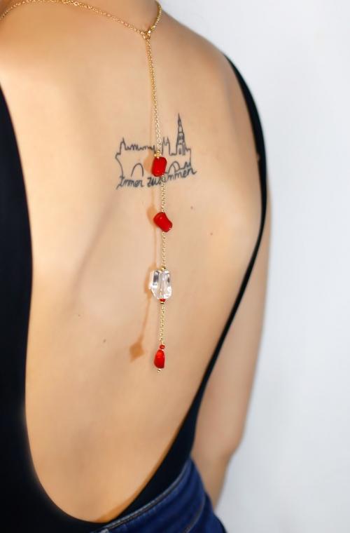 collar coral para espalda
