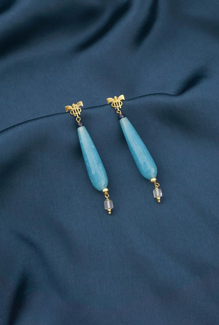 Pendientes azules de aventurina