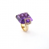 Anillo amatista purpura