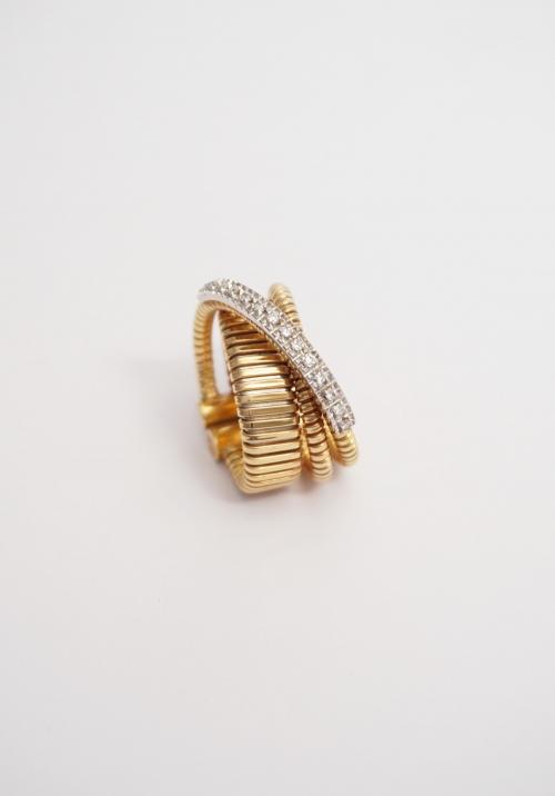 tubogas anillo oro y brillantes k di kuore