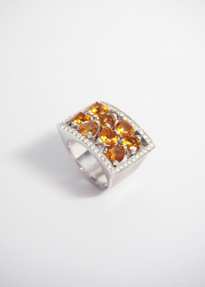 robotti anillo oro citrinos