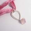 joya colgante cuarzo rosa y diamantes