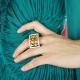 anillo corazones de melocotón
