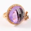 anillo tressor amatista oro