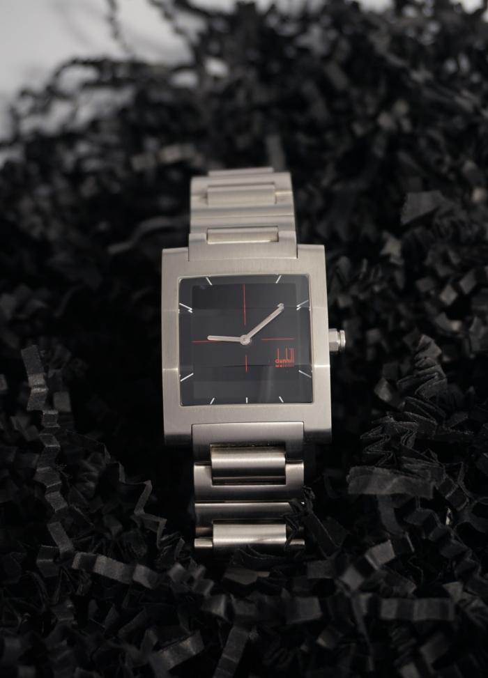 reloj acero cuadrado