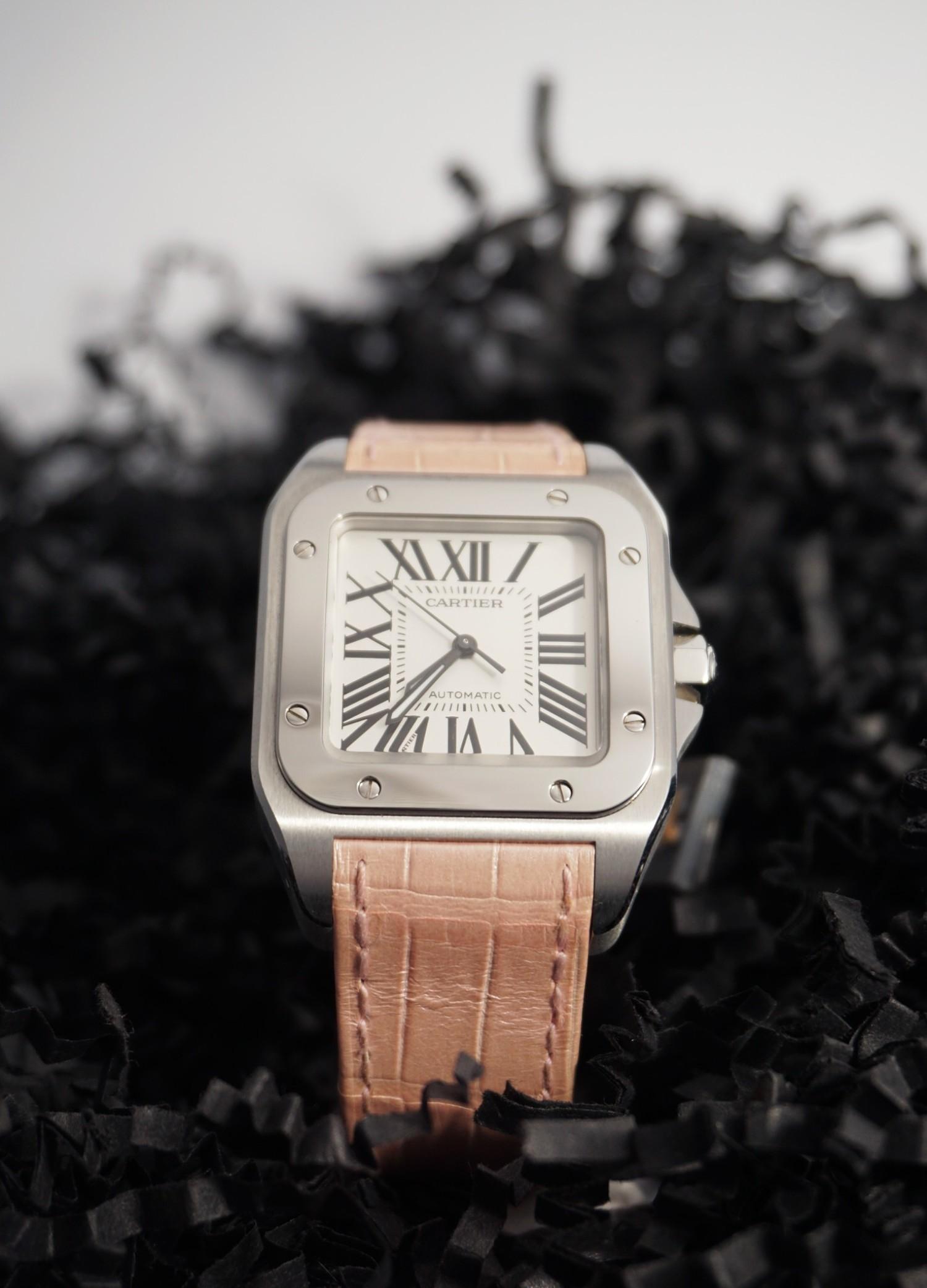 59b04d24fdf9 /Reloj Cartier Santos 100 mediano