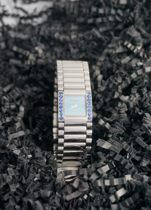 reloj Baume Mercier para mujer de acero y zafiros