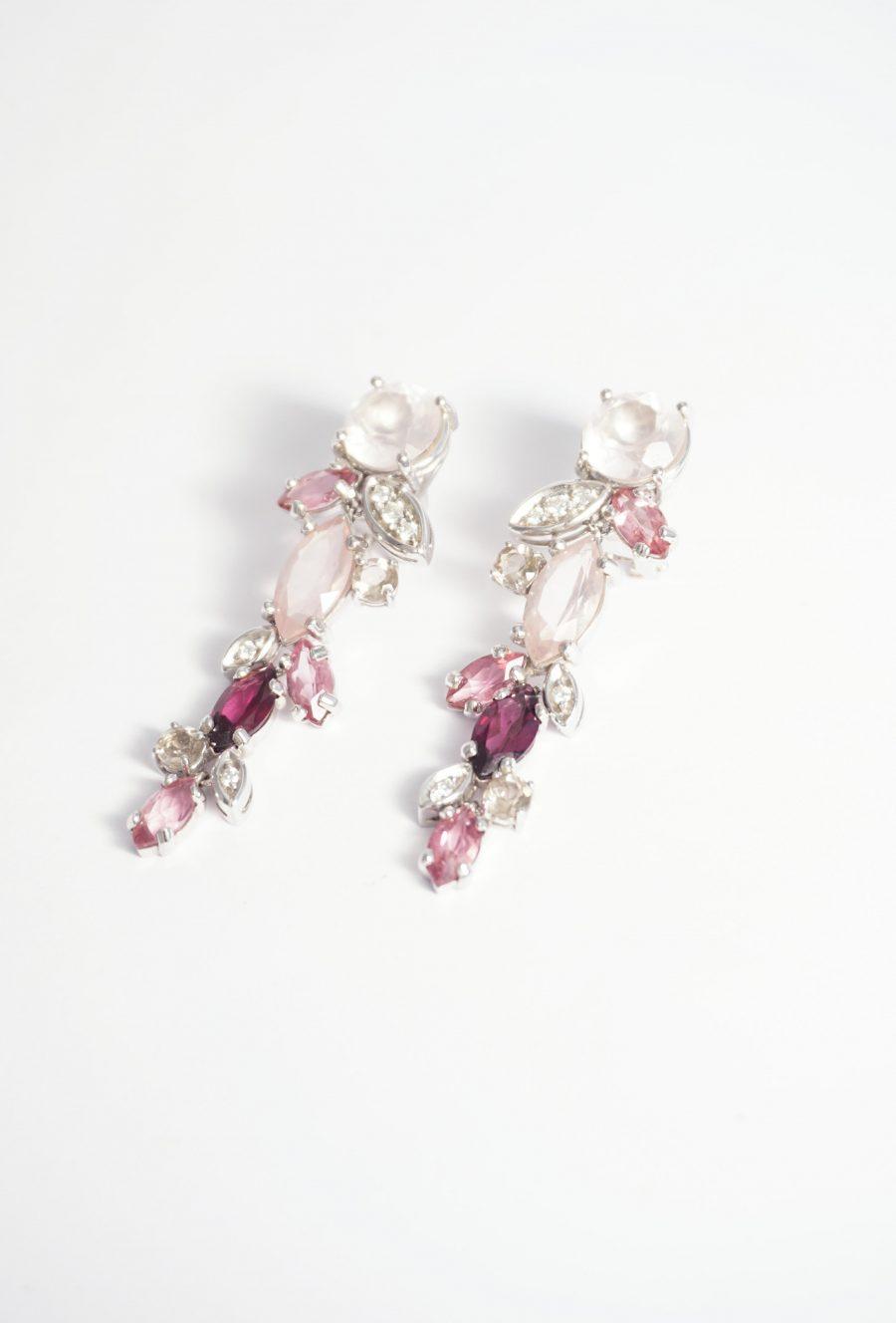 novia cuarzo rosa diamantes y turmalinas en oro