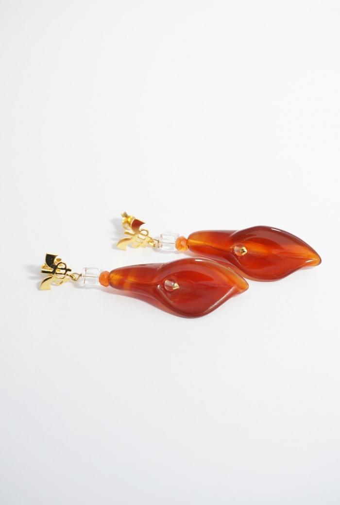 pendientes marrón anaranjados