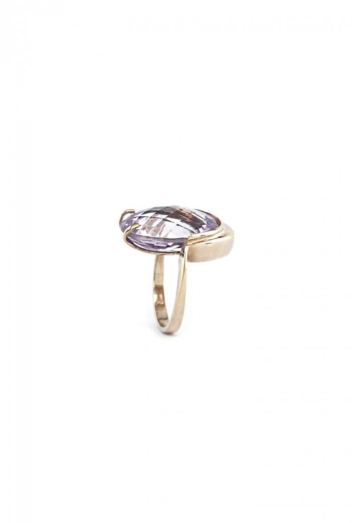 anillo cuarzo amatista