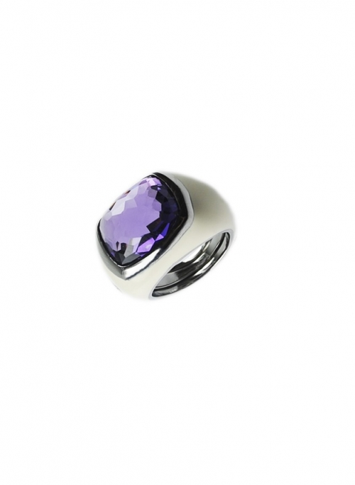 anillo esmalte blanco
