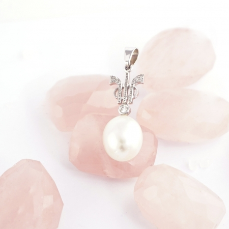 Colgante TRESSOR perla y diamantes
