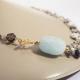collar de piedras naturales color azul