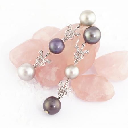 Pendientes perlas Tahití Tressor