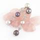 pendientes perlas Tahiti color gris de Tressor