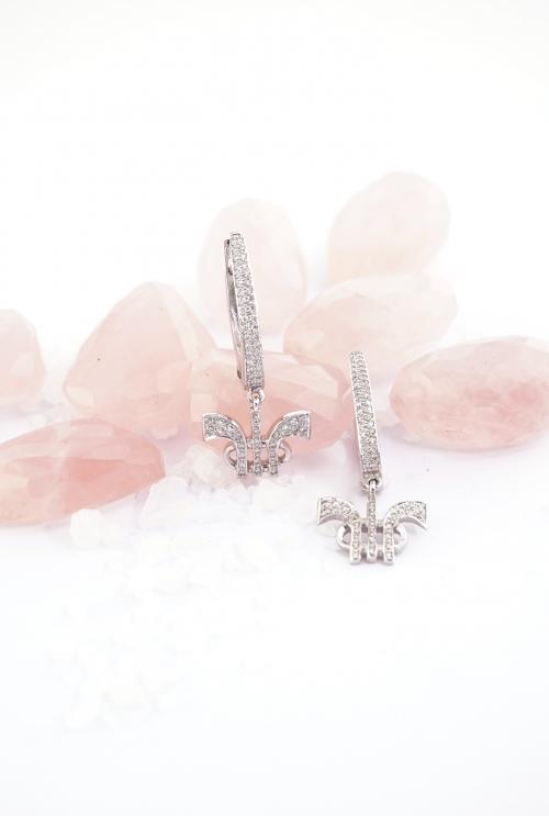 Aros Tressor realizados en oro blanco y diamantes