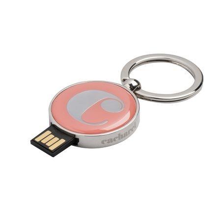 B Llavero naranja con USB