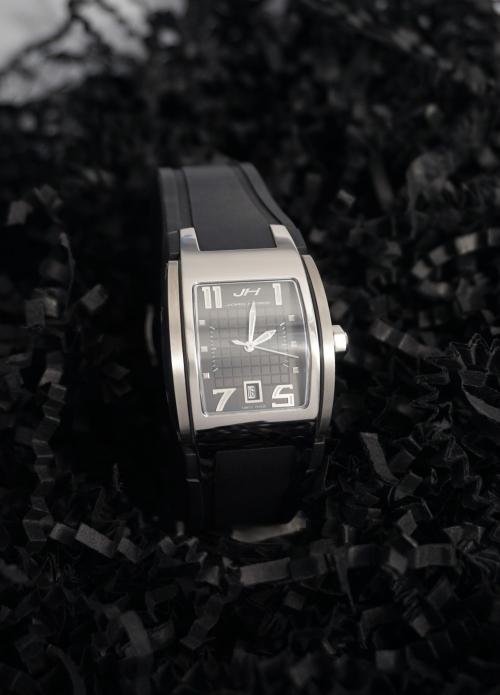 Reloj de caucho de mujer y acero