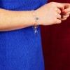 pulsera cuarzos azules plata