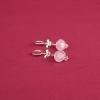 Pendientes aros cuarzos rosas