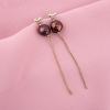 pendientes perlas chocolate plata tressor joyas