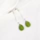 Pendientes cuarzos verdes tubo