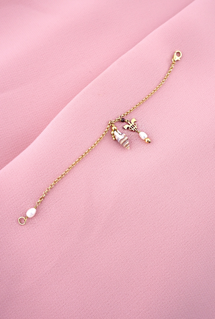 Pulsera caracola perla