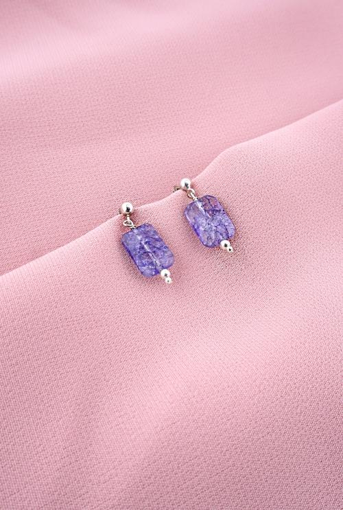 pendientes cuarzos lilas midi tressor joyas