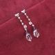 pendientes largos plata cuarzos amatistas tressor joyas