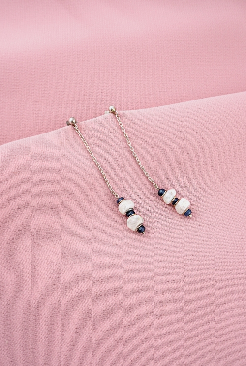 pendientes plata piedra luna espinelas azules tressor joyas
