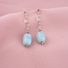 pendientes plata calcedonias rosas aguamarinas plata tressor joyas