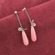 pendientes plata aventurinas rosas amatistas y cuarzos tressor joyas