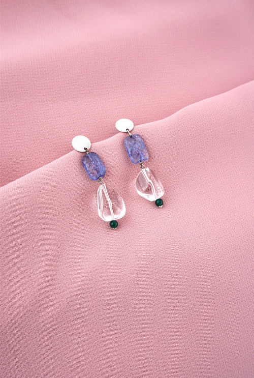 pendientes plata joyas joyeria cuarzos