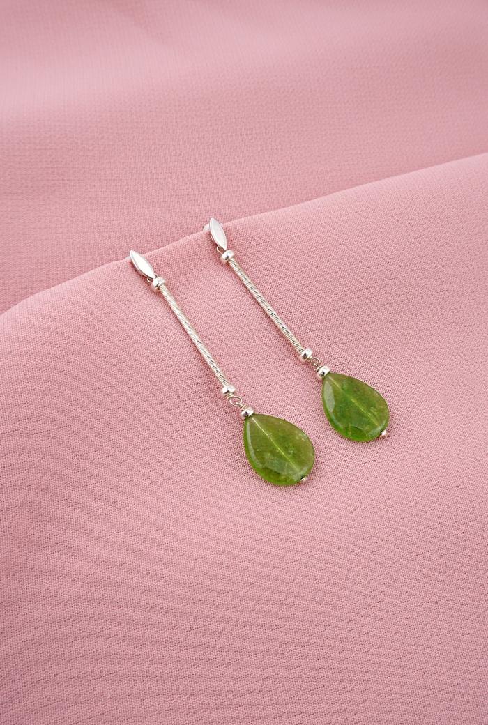 pendientes plata cuarzos verdes tressor joyas