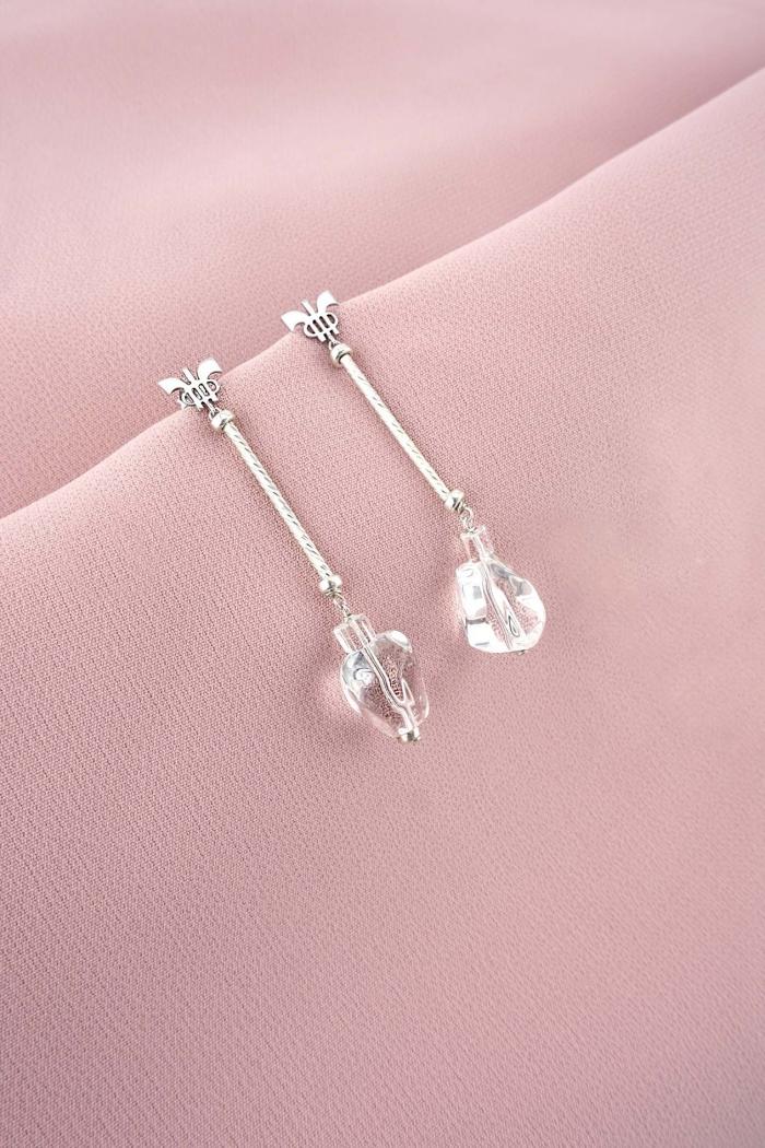 pendientes plata tubo tressor joyas