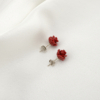 Pendientes rosas rojas diario