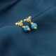 Pendientes mini cuarzos azules